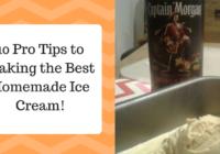 10 Tips to Homemade Ice Cream